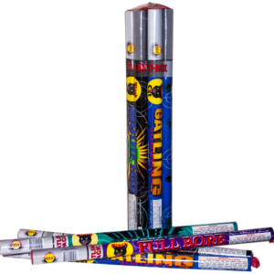 10 Ball Roman Candle Gatlin Gun Fireworks