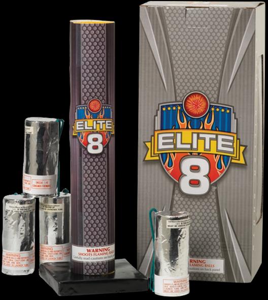 Elite 8 Canister Shells Mortar Fireworks