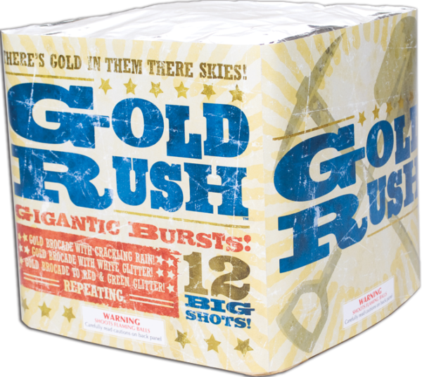Gold Rush Aerial Repeater Fireworks
