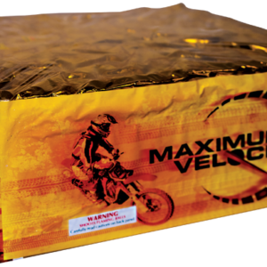 Maximum velocity zipper cakes fireworks