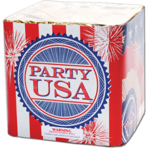 Red White and Blue USA Party Finale Cake Fireworks