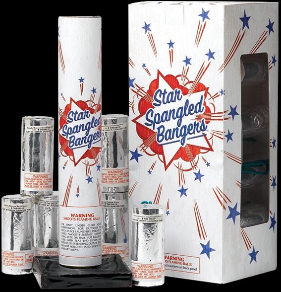 Star Spangled Bangers Mortars Fireworks